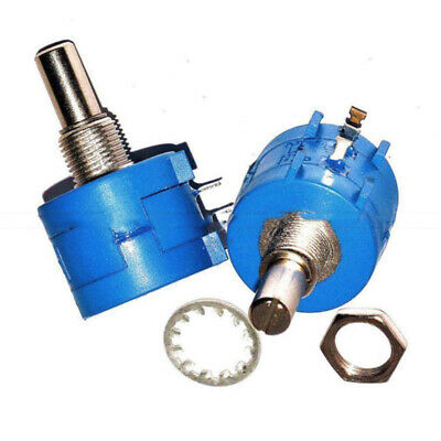 3590S Rotary Shaft Wirewound Potentiometer Pot 10Turn Ohm Variable Resistor500K