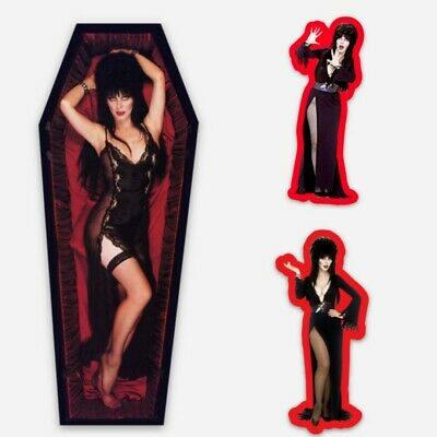 Elvira Mistress of the Dark (3) Pack Vinyl Sticker Lot