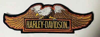 Harley Davidson HD Eagle Wings Logo Patch Iron On Motorcycle Bike BRAND NEW