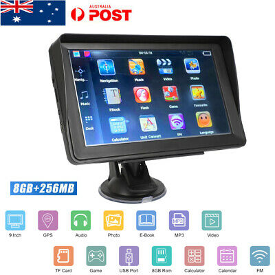 9 Inch 8GB Sat Nav 256MB Car HGV GPS Navigation Free POI Maps Speedcam Updates