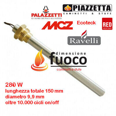 CANDELETTA  ACCENSIONE STUFE PELLET RACC.3/8 - PUROS - RIKA - RED - cod. 1004