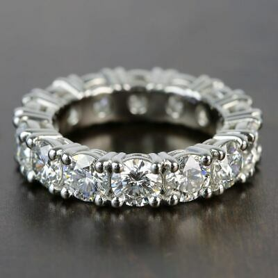 6.50Ct Round Cut VVS1 Diamond Beautiful Engagement Ring Band 14K Real White Gold