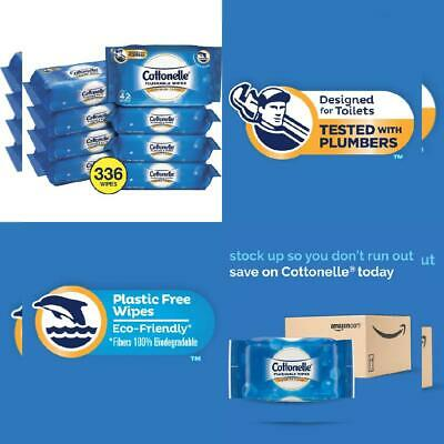 Cottonelle FreshCare Flushable Wipes for Adults, Wet Wipes, Alcohol Free,...