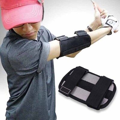 1*Swing Practice Training Aid Elbow Support Brace Arm Trainer Golf Straight YXF