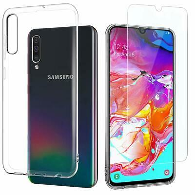FULL CLEAR Screen Protector Cover /Gel Case for Samsung A80 A70 A50 A40 A20e A10