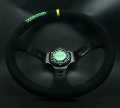 Universal Steering Wheel 350 mm SUEDE DEEP DISH High Quality Black for OMP MOMO