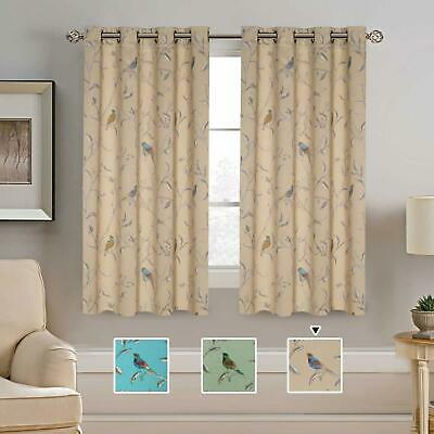 """Thermal Insulated Room Darkening Natural Blackout Window Curtains 2 Panel 52X63"""""""