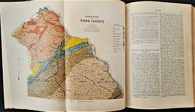 1886 antique YORK COUNTY pa HISTORY GENEALOGY indians revolutionary war quaker