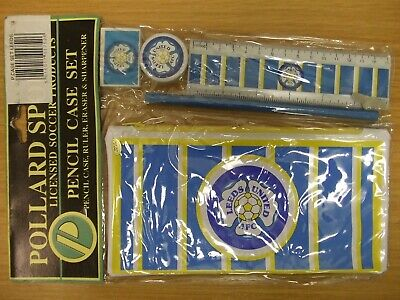 Leeds United Fc: 1980'S Officially Licensed Pencil Case: Vintage & Sealed Look!!