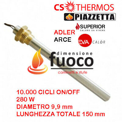 Candeletta  Accensione Stufe Pellet  Racc.3/8- D.9,9 L.150 - Cs Thermos  - 1023