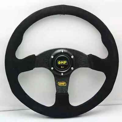 Flat Steering Wheel 350mm Suede Small Scratch High Quality For OMP MOMO ND