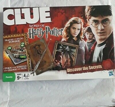 Clue World of Harry Potter Board Game 2011 Hasbro Use.