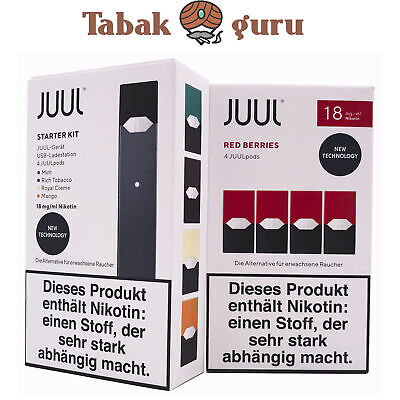 JUUL Starter-Kit mit 4 JUULpods Inkl. 4 JUULpods Red Berries 18mg