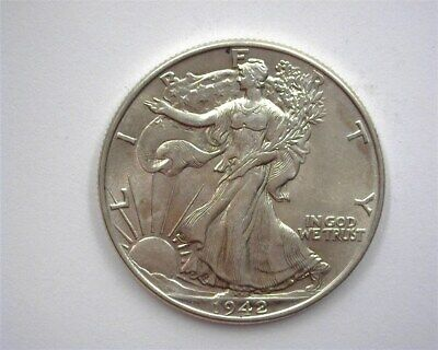 1942 Walking Liberty Silver 50 Cents  Gem Uncirculated