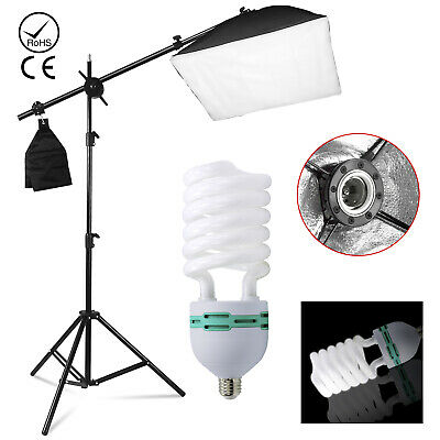 Continuous Lighting Kit 85W Boom Arm Softbox Light Stand for Photo Video Studio