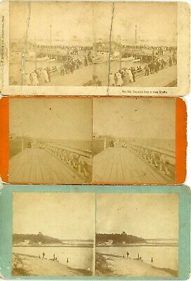 3 Marthas Vineyard MA Stereos; 3 Photographers: with Condition Issues CL304