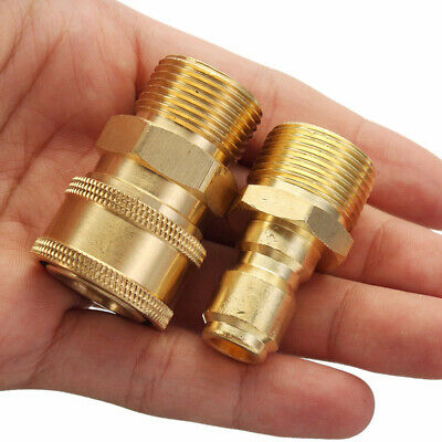 M22/14mm Female 3/8 Male Pressure Washer Adapter Quick Connect Kit Fast 2x
