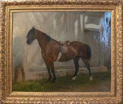 """perfect  24x20 oil painting handpainted on canvas """" a  horse """"N9607"""