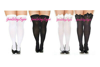 Plus Size Opaque OVER THE KNEE Thigh High STOCKINGS School Girl