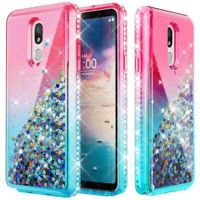 Motorola Moto G7 Plus G7 Power Play Bling Rubber Phone Case Cover+Tempered Glass