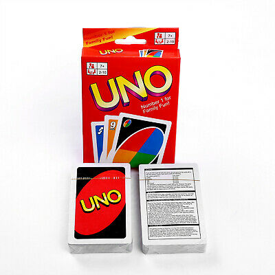 UNO Card Game Family Party Fun 108 Playing Cards Friends Workmate Standard Game