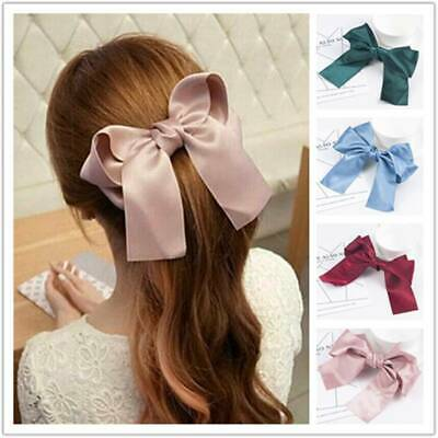 Big Bow Hair Clip Satin Hairpin Girl Women Bowknot Hairpins Hair Accessories New