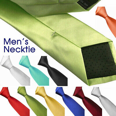 Necktie Ties Solid Plain Color 10cm Tie For Wedding Groomsmen Men's Accessories