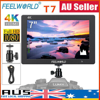 """New FEELWORLD T7 7"""" IPS 1920x1200 HDMI On Camera Field Video Monitor for DSLR AU"""