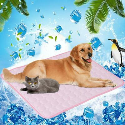 HB- Summer Pet Dog Cat Self Cooling Mat Heat Relief Mesh Cool Sleeping Cushion P