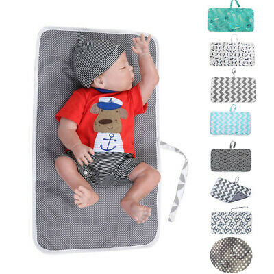 Baby Portable Foldable Washable Compact Travel Nappy Diaper Changing Mat Waterpr
