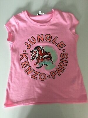 Kenzo Jungle Girls Short Sleeve Top, Age 10 Years, In Vgc