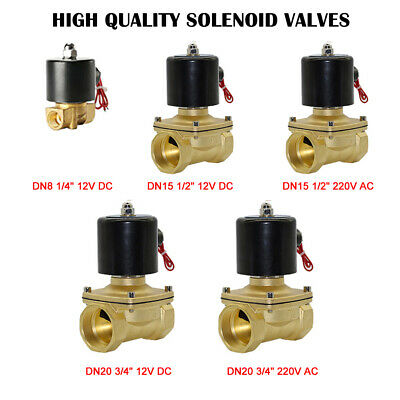 2 Way Solenoid Valve Air Water N/C Gas Oil Normally Closed 12v 240v BSP AU