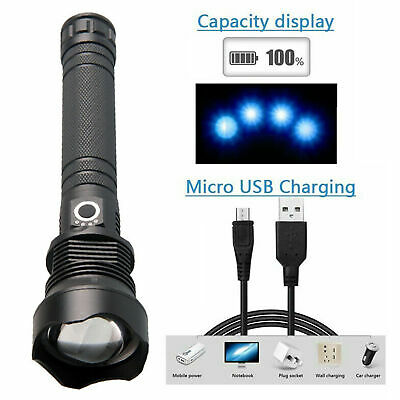 90000 lumens xhp70.2 most powerful led flashlight usb Zoom torch xhp70