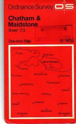 Ordnance Survey  One-Inch Map Sheet 172 Chatham & Maidstone, Anon