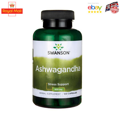 Swanson ASHWAGANDHA CAPSULES 100/200 CAPS  STRESS FATIGUE ANXIETY RELIEF