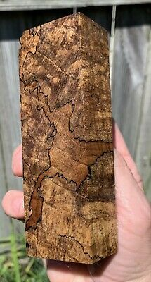 Stabilized Black line Spalted Maple Knife Block.   5.10 x 1.72 x 1.22   (2027)
