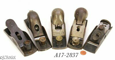 various antique old BLOCK PLANES SARGENT STANLEY made woodworking tools