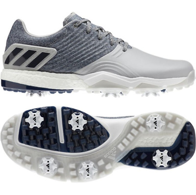 New Adidas Adipower 4orged Boost Mens Golf Shoes F34192 - Grey/Navy - Pick Size!