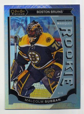 2015-16 O-Pee-Chee MALCOLM SUBBAN Rookie Card RC WHITE ICE REFRACTOR #/199 SP M5