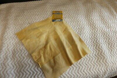 CARPRIDE STITCHED NATURAL CHAMOIS CHAMMY LEATHER DRYING CLOTH CLEANING 30 x 30cm