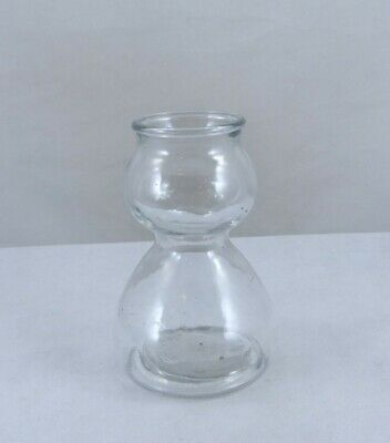 Quaffer Glass Double Bubble Shot Glass / Chaser Jigger made Anchor Hocking USA