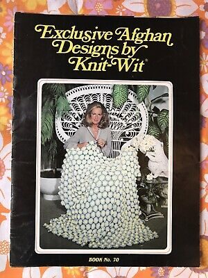 AFGHAN KNIT-WIT PATTERN BOOK 70 Vintage 1981 1984 1980s Rugs