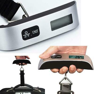 50kg/110lb Portable Travel LCD Digital Hanging Luggage Weighing Scale Electronic