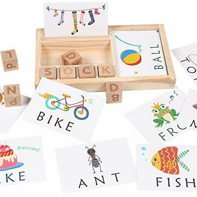 3-in-1 Spelling Learning Game Wooden English Spelling Words Enlightenment Baby