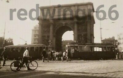 Vtg Early 1900's ARCH MONUMENT PHOTO~Lot Antique Bicycle STREET CAR TROLLEY