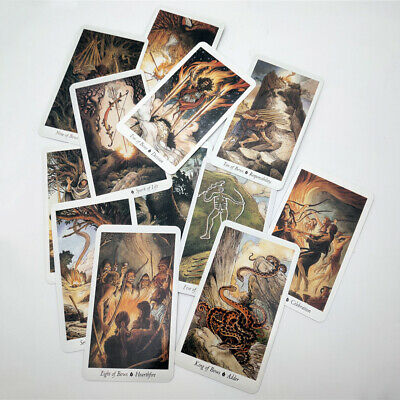 78 Pcs/ Set Card Wild Wood Tarot Cards Beginner Deck Vintage Fortune Prophecy+