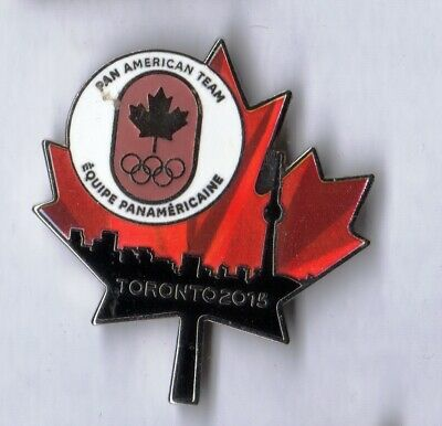 2015 Toronto Pan American Games Pin. Pan American Team. Maple Leaf