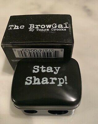 The Browgal Large Dual Ended Pencil Sharpener NIB