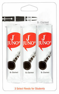 Juno Bb Clarinet Reeds by Vandoren 3 Pack 1.5 2 2.5 3  Same Day P+P