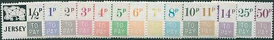 Jersey Due 1971 SGD7-D20 Postage Due set MNH